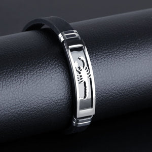 Black Stainless Steel Scorpion Male Bracelet