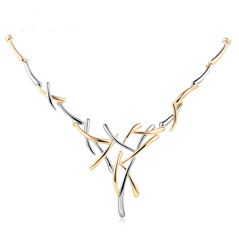 Innovato's Silver and Gold Choker Necklace