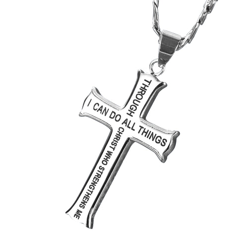 Men's Gold Plated Stainless Steel Cross Pendant