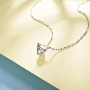 925 Sterling Silver with Freshwater Pearl Cat Pendant Necklace