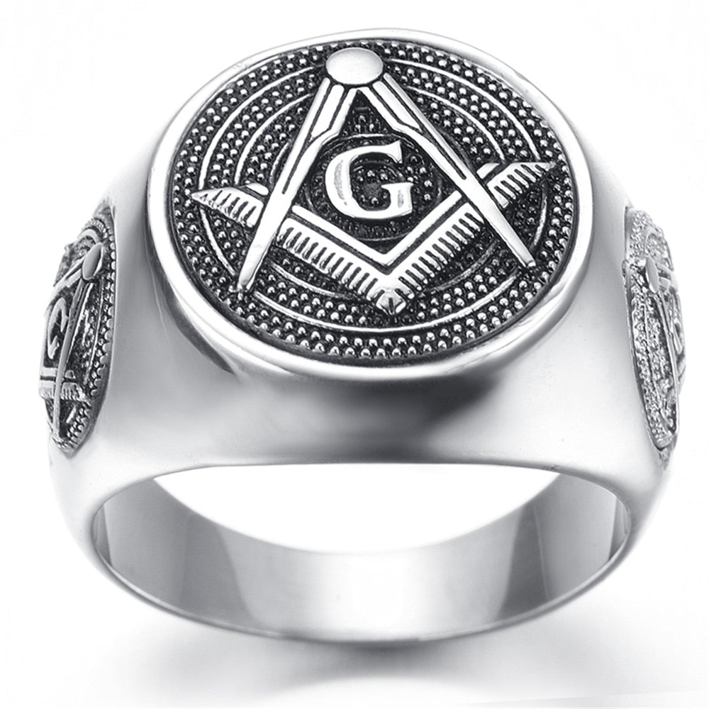 Stainless Steel Freemason Ring