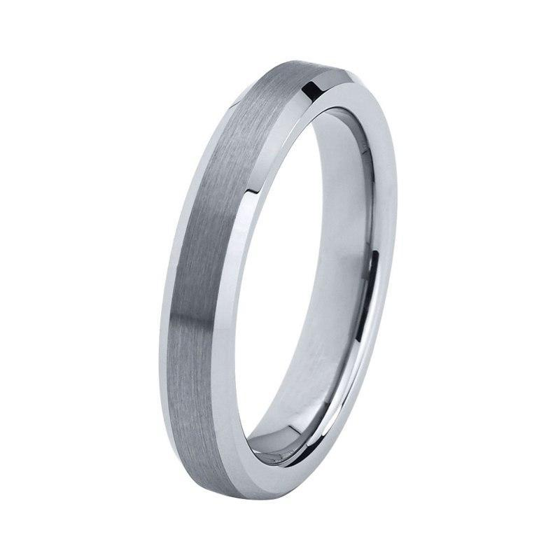 4mm Thin Silver Plated Matte Tungsten Ring - Innovato Store