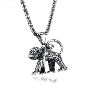 316L Stainless Steel Monkey Necklace for Men