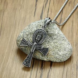 Egyptian Cross Horus Protection Pendant Necklace