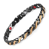 Gold & Silver Magnetic FIR Germanium Bracelet