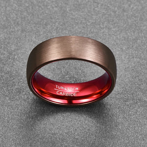 3-shades of Red Tungsten Carbide Ring - Innovato Store
