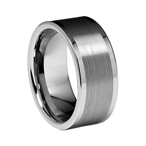 10mm Polished Tungsten Men's Wedding Ring - Innovato Store