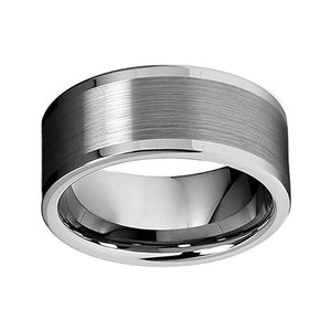 10mm Polished Tungsten Men's Wedding Ring