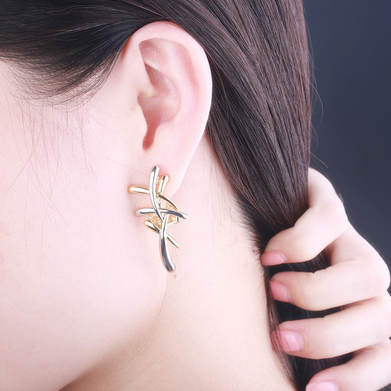 Innovato's Silver and Gold Statement Earrings