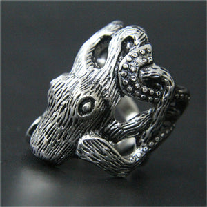 Gothic 316L Stainless Steel Octopus Ring