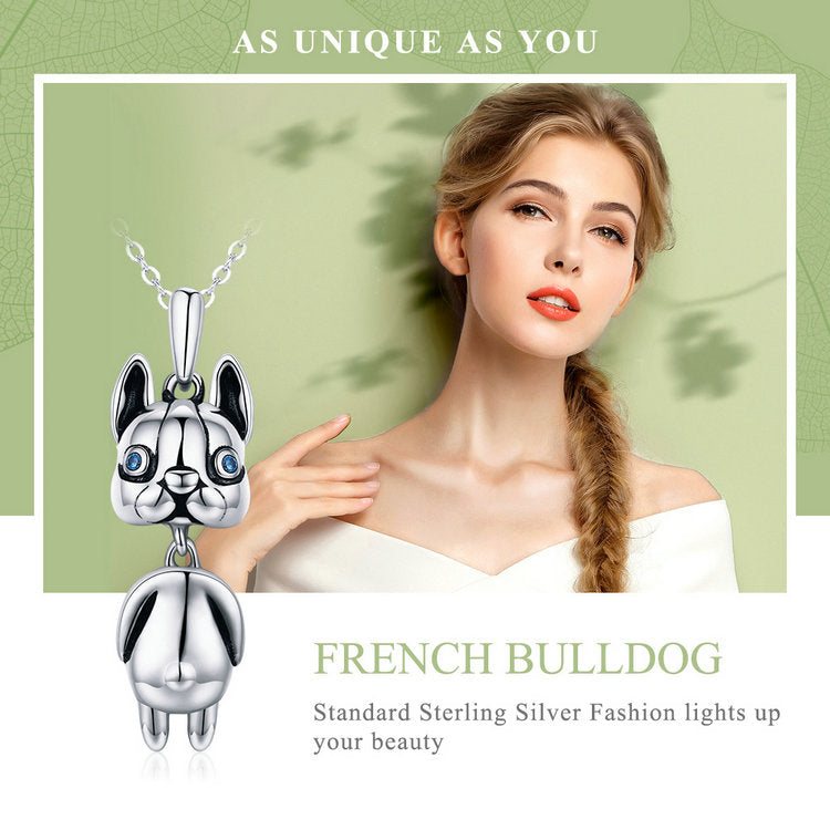 925 Sterling Silver Dog Pendant Necklace Women's Jewelry