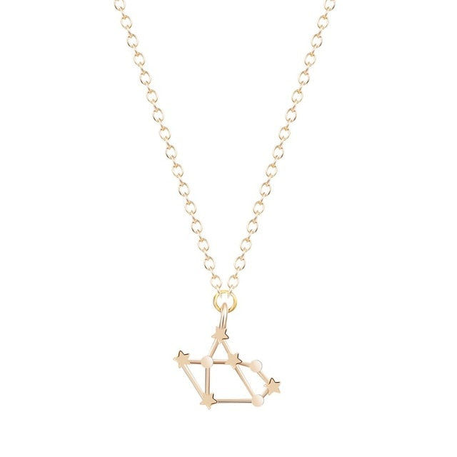 Gold/Silver Sagittarius Zodiac Sign Pendant Necklace