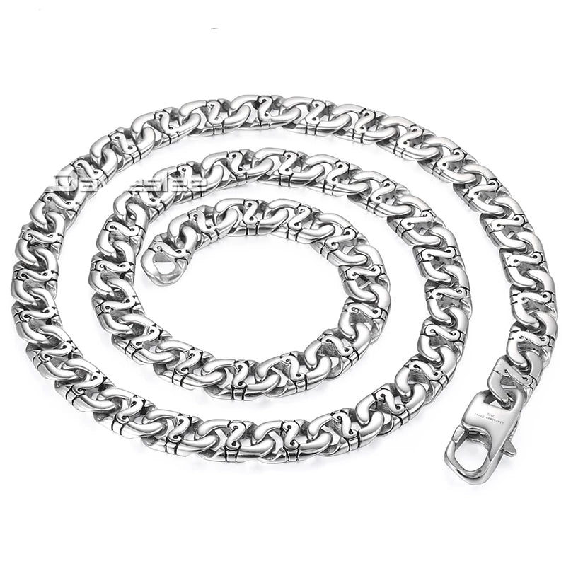 Men's 316L Stainless Steel Biker Chain Necklace