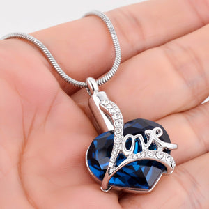 Always in My Heart Cubic Zirconia Locket Heart Memorial Necklace
