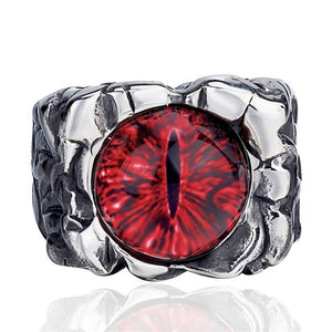 The Devil's Eye Stainless Steel Ring Men's Jewelry