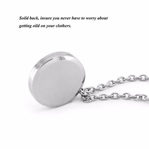 Lotus Design Essential Oil Diffuser Perfumed Locket Necklace