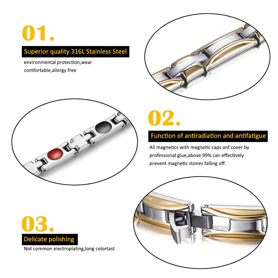 3 Colors Luxury Classic Magnetic Bracelet