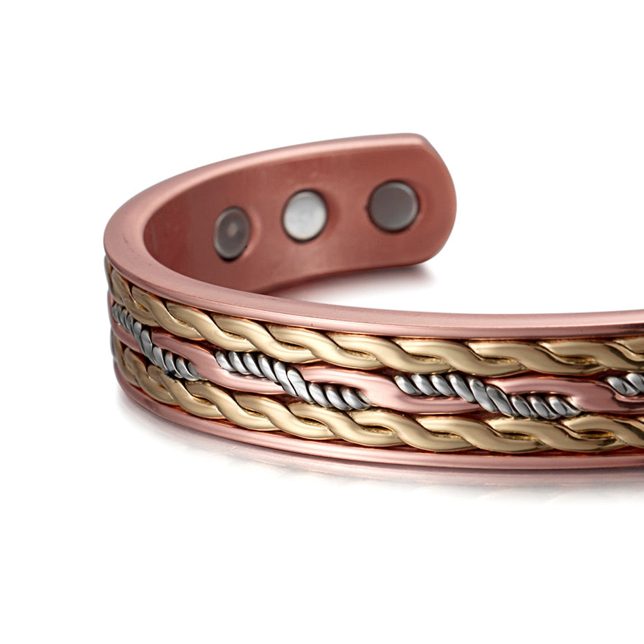Classic Magnetic Copper Bangle Bracelet for Men/Women