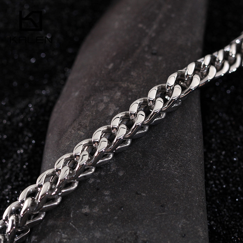 Leopard and Tiger Head Stainless Steel Bracelet for Men