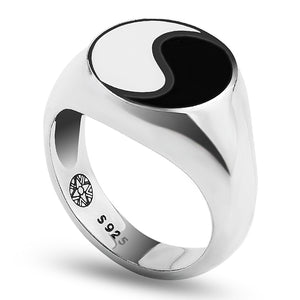 Classic Silver Plated Yin and Yang Forever Ring for Men and Women - Innovato Store