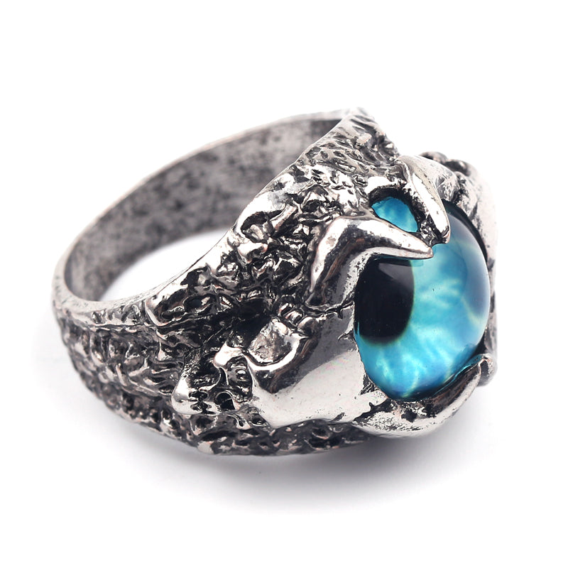 Men's Blue Evil Eye Vintage Biker Ring for Men - Innovato Store