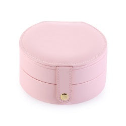 Portable Double-deck PU Leather Jewelry Box