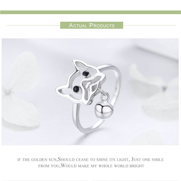925 Sterling Silver Puppy Dog Ring Women's Jewelry