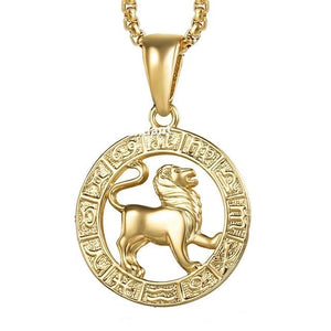 Gold Filled Horoscope Pendant Necklace for Men and Women