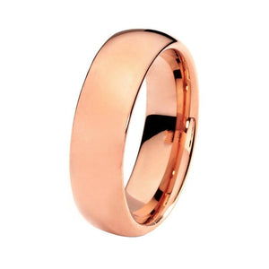 8mm Unisex Rose Gold Plated Tungsten Engagement / Wedding Band - Innovato Store