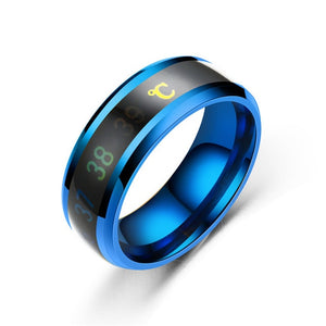 8mm Black Color Sport and Smart Ring for Woman and Man that Measures Body Temperature - Innovato Store
