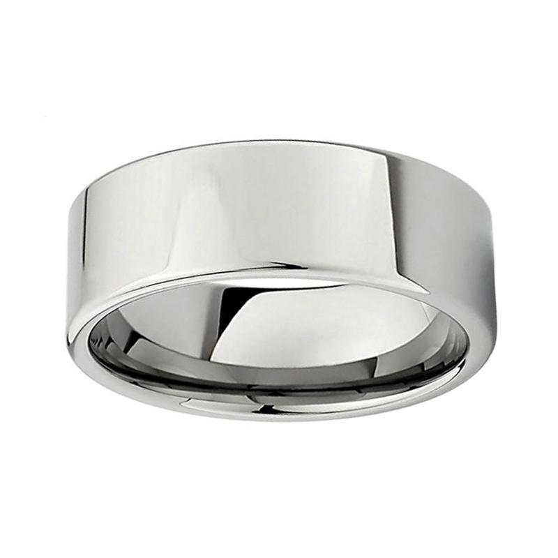 8mm High-Grade Polished Classic Pipe Cut Tungsten Carbide Wedding Ring - Innovato Store