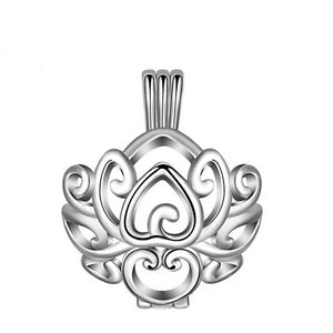 Flower Cage Openwork Aromatherapy Pendant Necklace