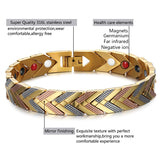 4 in 1 Gold Plated Germanium Magnetic Bracelet