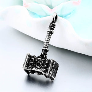 316L Stainless Steel Viking Thor's Hammer Pendant Necklace
