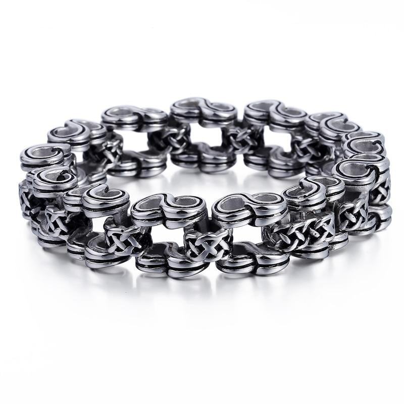 Stainless Steel Bicycle Link Chain Bracelet