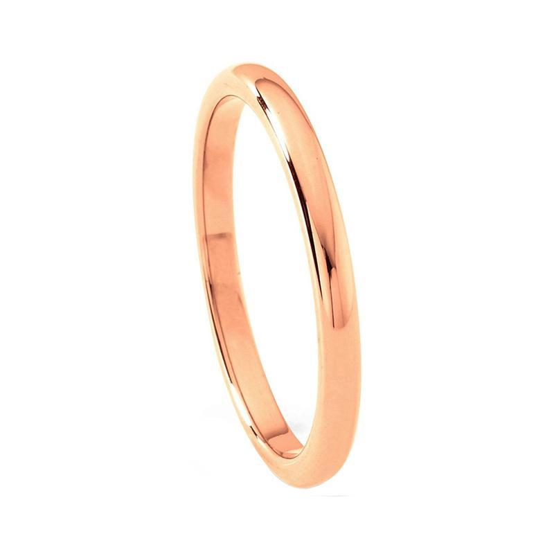 Slim 2mm Elegant Classic Gold Coated Tungsten Carbide with polished Wedding Band
