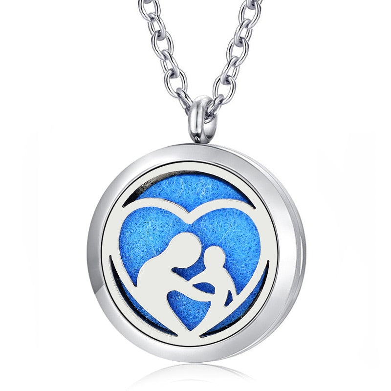 Mother & Child Essential Oil Diffuser Perfumed Locket Necklace