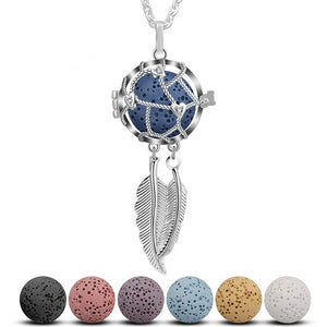 Dreamcatcher Aromatherapy Locket Pendant Necklace