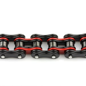 Biker Men's Red and Black Motorcycle Chain Bracelet