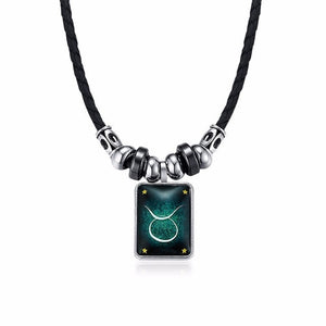 Classic 12 Horoscope Pendant Necklace for Men
