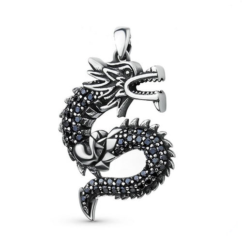 925 Sterling Silver Ancient Dragon Pendant