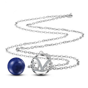 Love Micro Cubic Zirconia Chime Ball Necklace