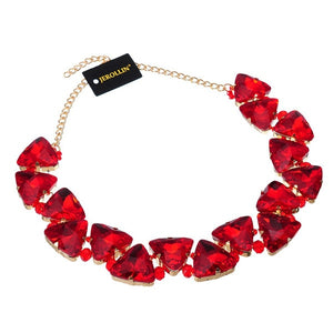 Triangular Multicolor Glasses Choker Statement Necklace
