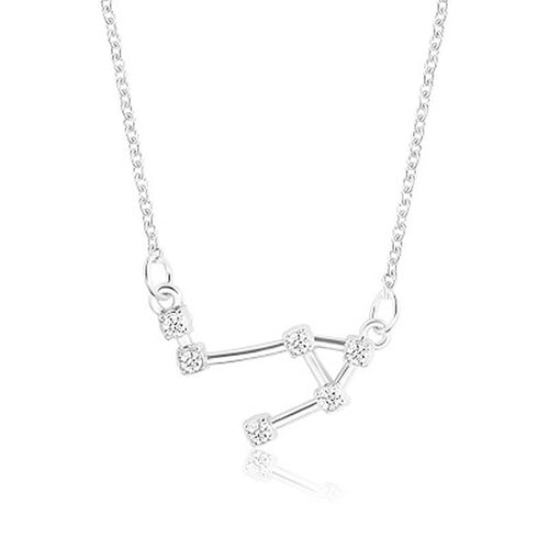Constellation Zodiac with Cubic Zirconia Pendant Necklace