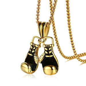 Sporty Boxing Gloves 3 Colors Pendant Necklace