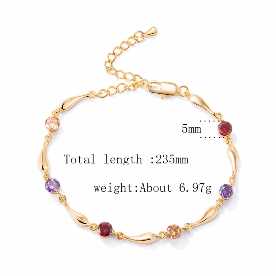 Summer Dolphin Crystal Gold Anklet Women's Jewelry