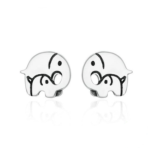 925 Sterling Silver Elephant Stud Earrings - Innovato Store