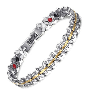 Magnetic Bracelet with Germanium, FIR Rose Gold & Silver