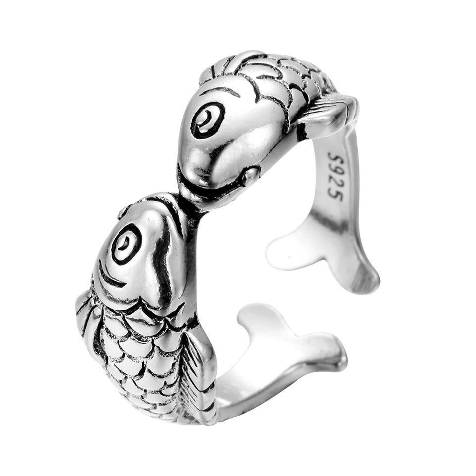 Lovely Double Fish Ring Women's Jewelry
