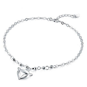 925 Sterling silver Fox Pendant Anklet - Innovato Store
